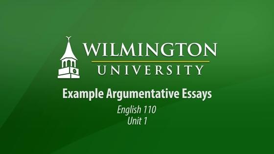 Examples of argumentive essay