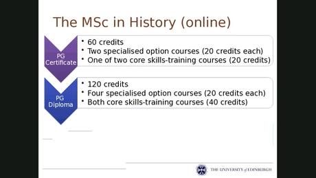 26c312a5a68008 MSc History - Media Hopper Create - The University of Edinburgh Media  Platform