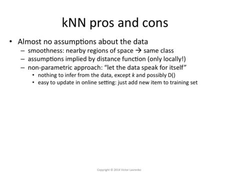 Pros and cons of nearest-neighbor methods - Media Hopper