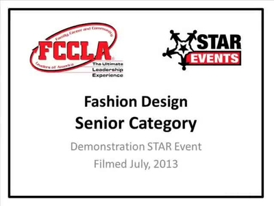 Fccla Star Events Demonstration Fashion Design Senior Central Valley Schooltube Safe Video Sharing And Management For K12