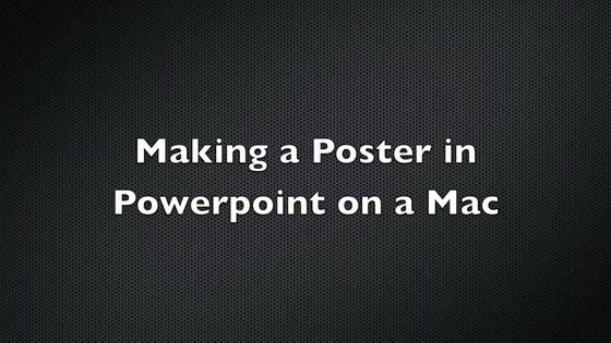 making a poster in powerpoint on a mac - osu mediaspace, Presentation templates