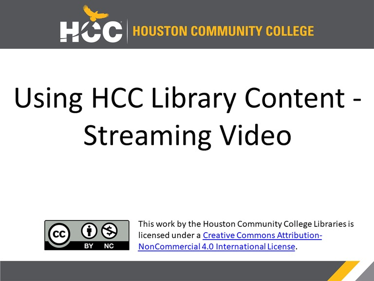 using hcc library materials in your online courses video edutube