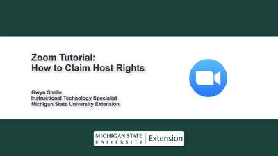 Zoom Tips: How to Claim Host Rights - MSU MediaSpace